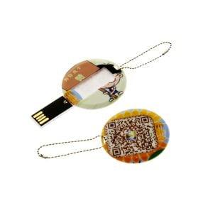 C002 Mini Round Card Shape USB Flash Drive