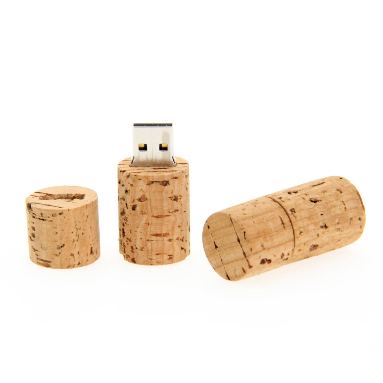 CK01 Wooden Cork USB Flash Drive