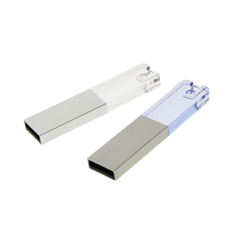 CY03 Plastic Slim Crystal USB Flash Drive
