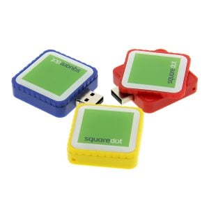 P005 Plastic Square Turn USB Flash Drive