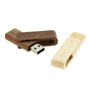 W007 Wooden Swivel USB Flash Drive